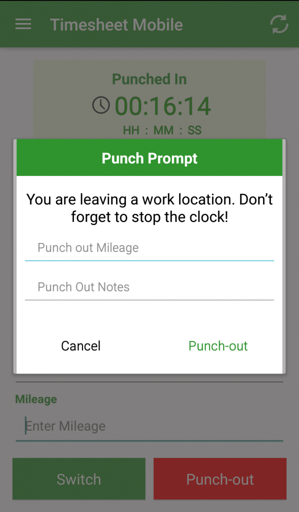 geofence timesheet app alerts when employees are away from jobsite