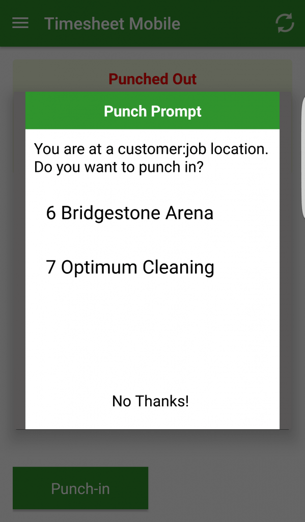 punch prompt alerts employees when they enter a geofence