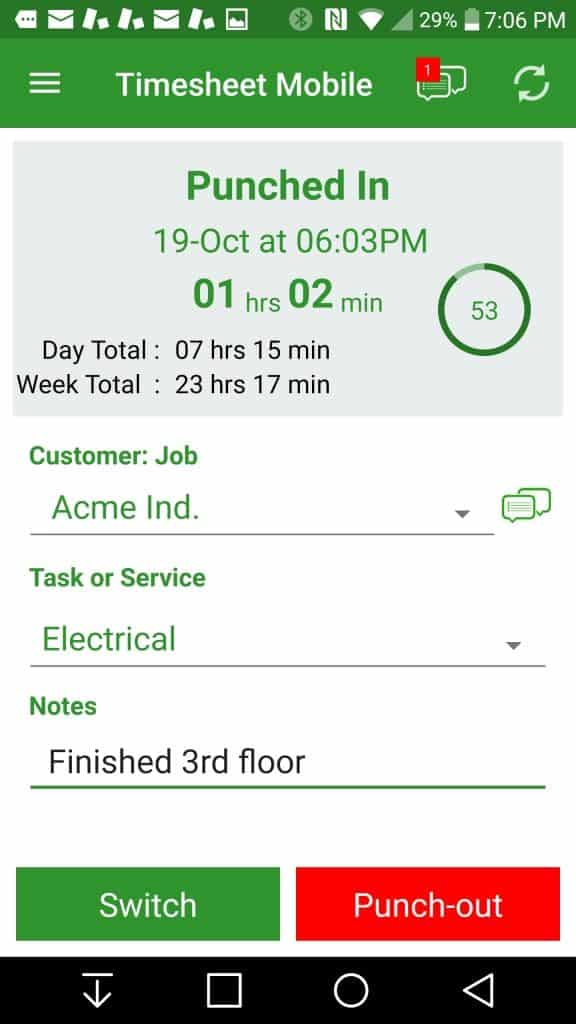 employee timesheet app with gps geofencing technology